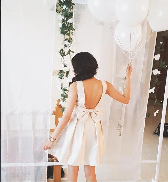 white brunch themed bridal shower