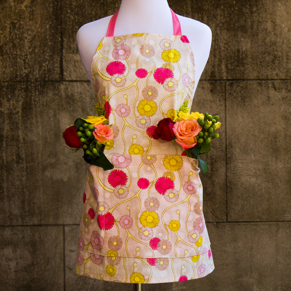 Garden Apron - Made by For the Love of Pattern #loveofpattern www.loveofpattern.com