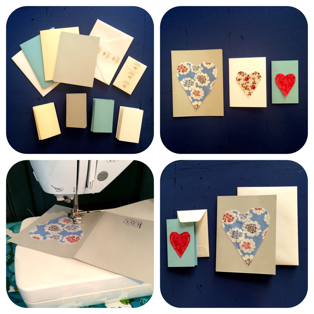 the process of making homemade cards