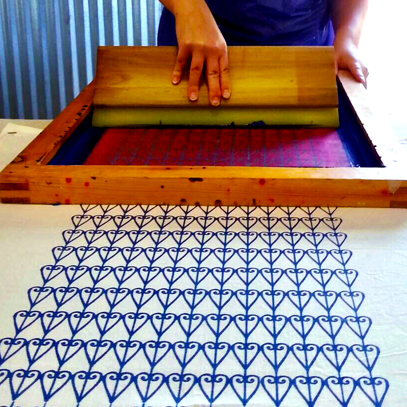 Screen Printing in the Studio by For the Love of Pattern #loveofpattern www.loveofpattern.com