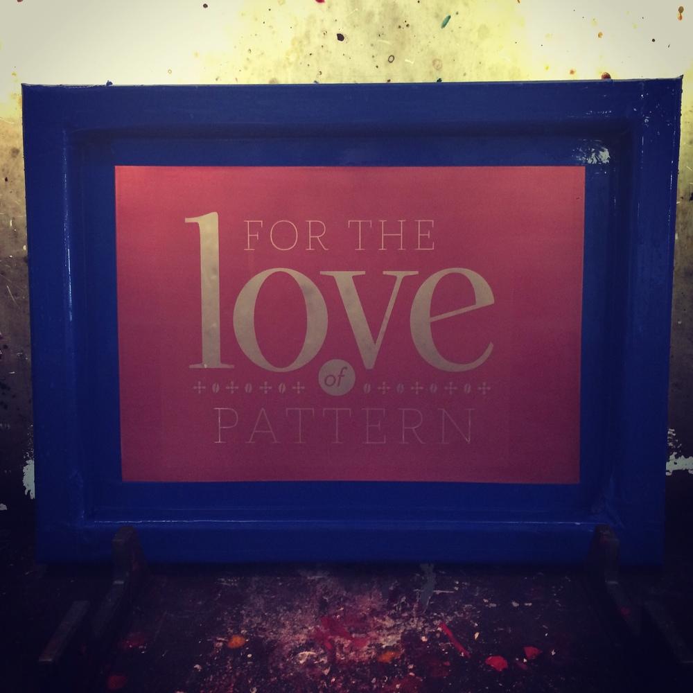 Screen Example - For the Love of Pattern #loveofpattern www.loveofpattern.com