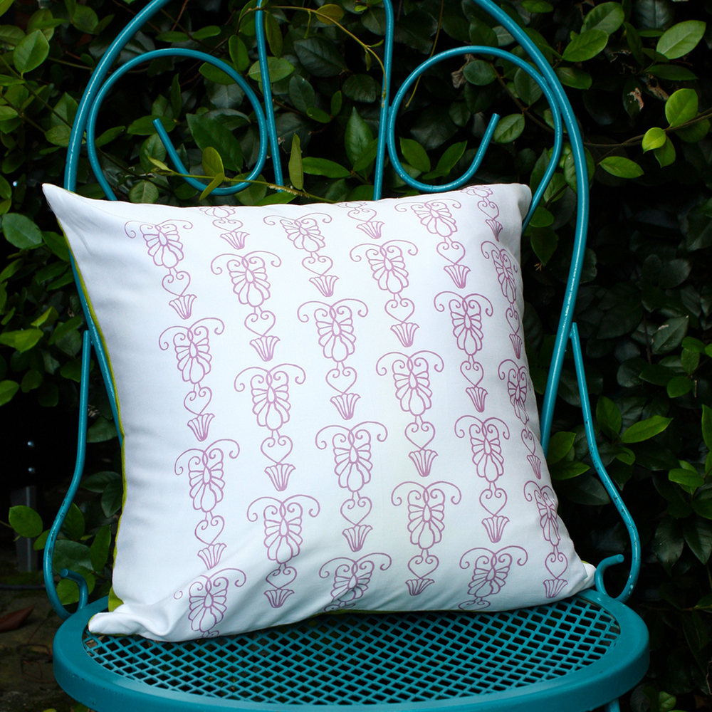 Iron Gate Pillow by For the Love of Pattern #loveofpattern www.loveofpattern.com