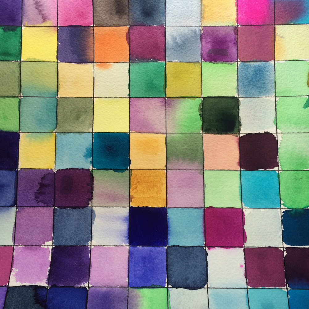 Watercolor studies #loveofpattern www.loveofpattern.com