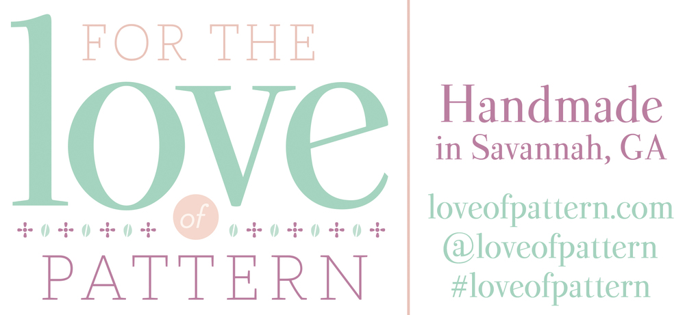 For the Love of Pattern Handmade in Savannah, GA @loveofpattern #loveofpattern #handmade #savannah