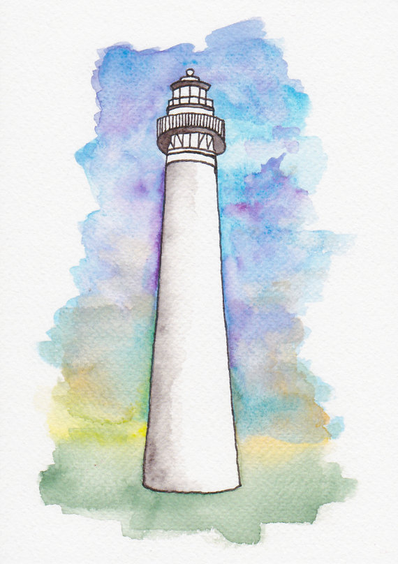 Original Watercolor by Abby at For the Love of Pattern www.loveofpattern.com
