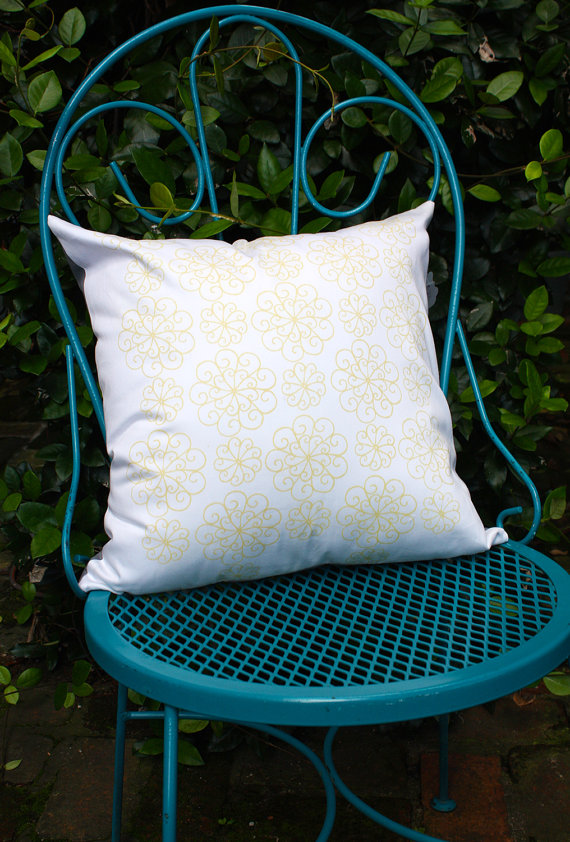 For the Love of Pattern Handmade Screenprint Pillow