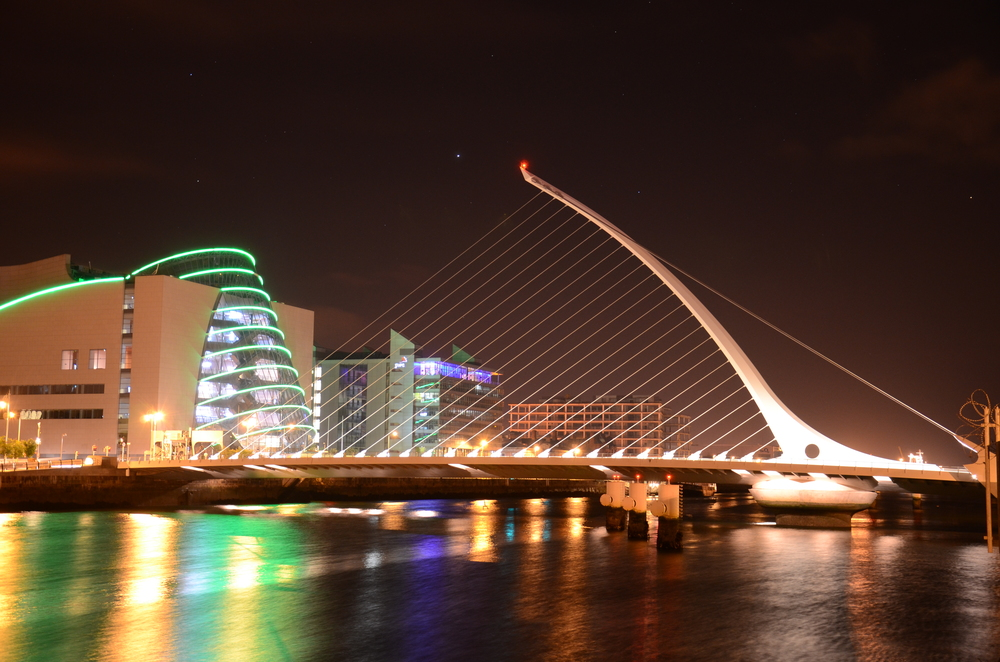 Calatrava's Samuel Beckett Bridge over the River Liffey