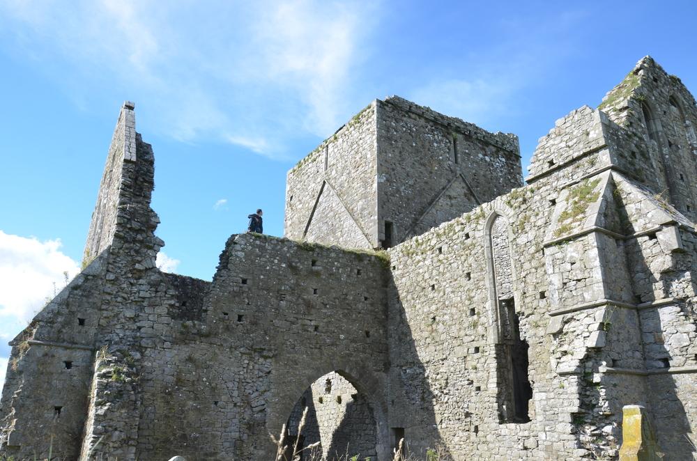 Monastery ruins climb
