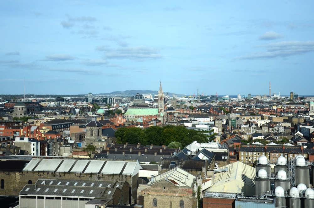 View from the top of the Guinness Brewery