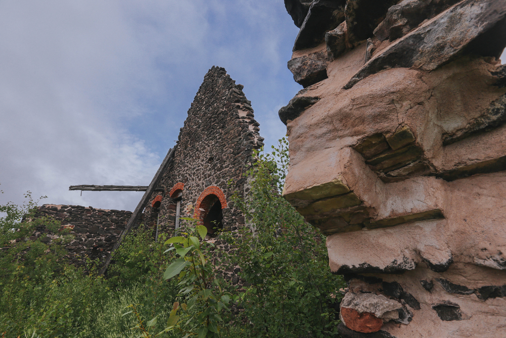 The remains of a structure at the Quincy Mines in Hancock, MI are seen in the state's Upper Peninsula. Ryan Garza / Pop Mod Photo