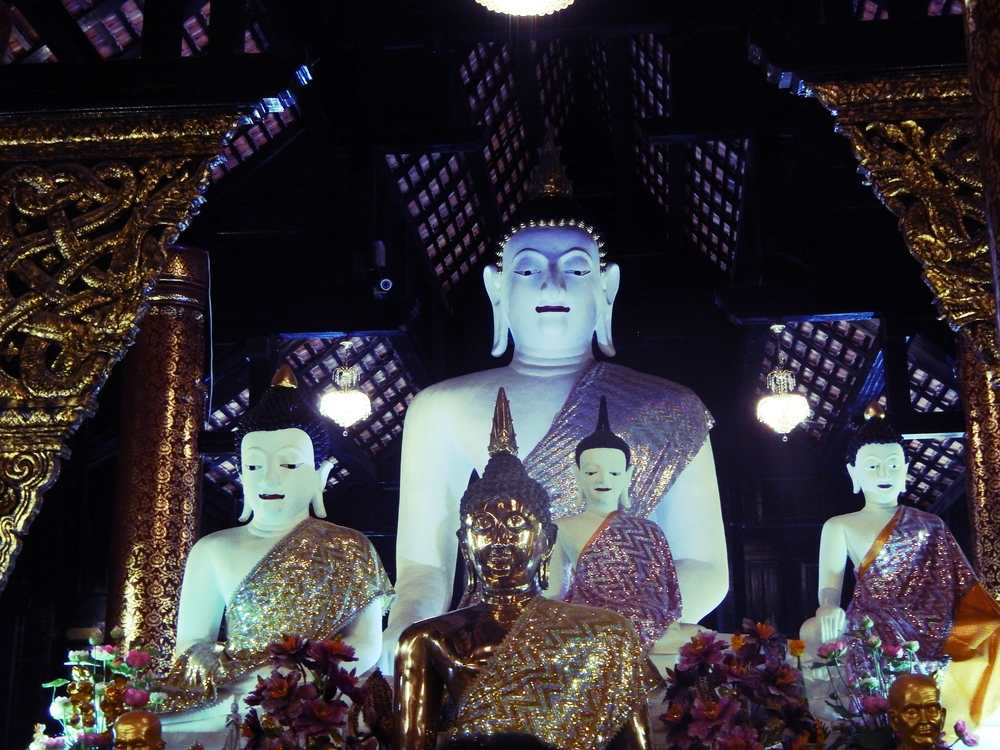 Buddha Relics in Chiang Mai Temple Thailand