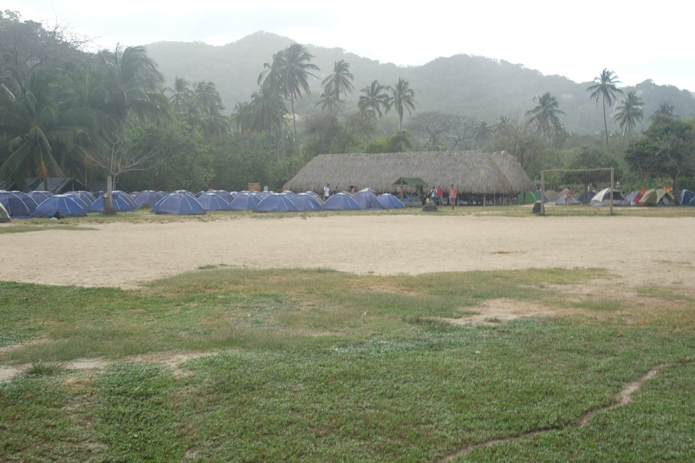 Campground at El Cabo San Juan Beach