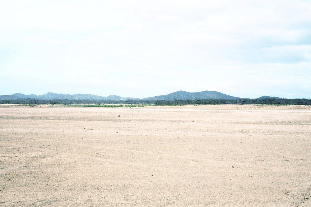 View of the barren desert.