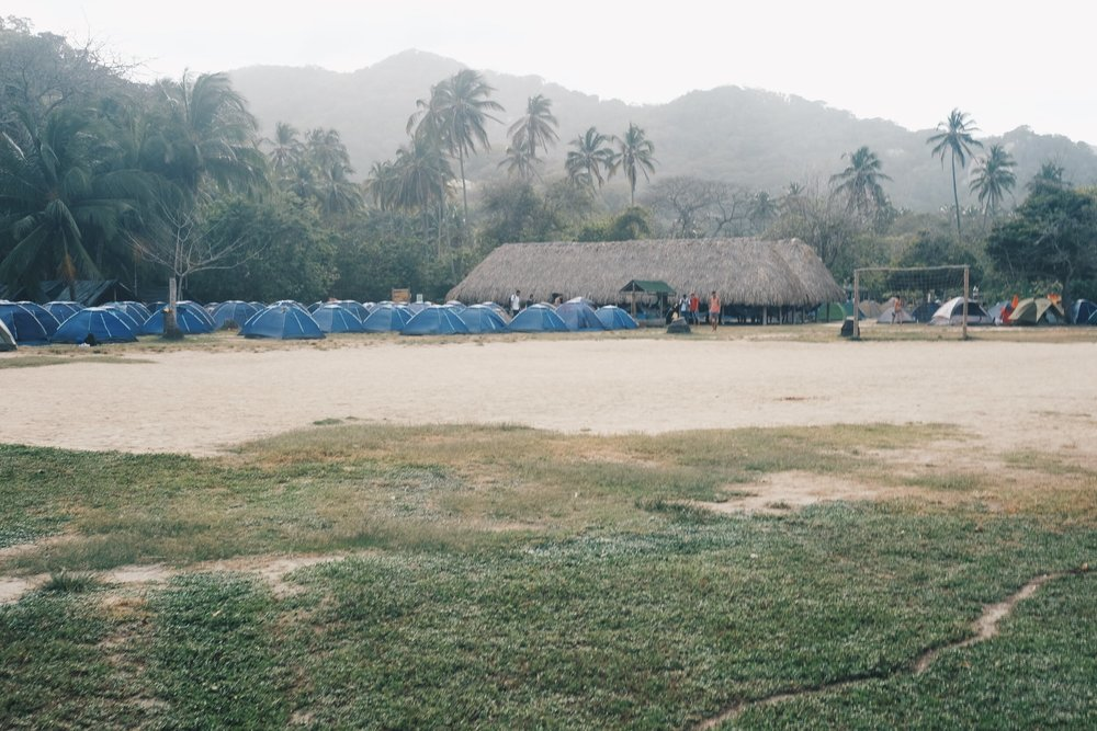 Cabo San Juan campsite  - Once you get to Cabo San Juan, you will come across hoards of tourists. The main restaurant is jam packed with people eating and there always is a line to purchase drinks and snacks. It is worth noting that food and drinks are more expensive in the park compared to actual towns and cities.
