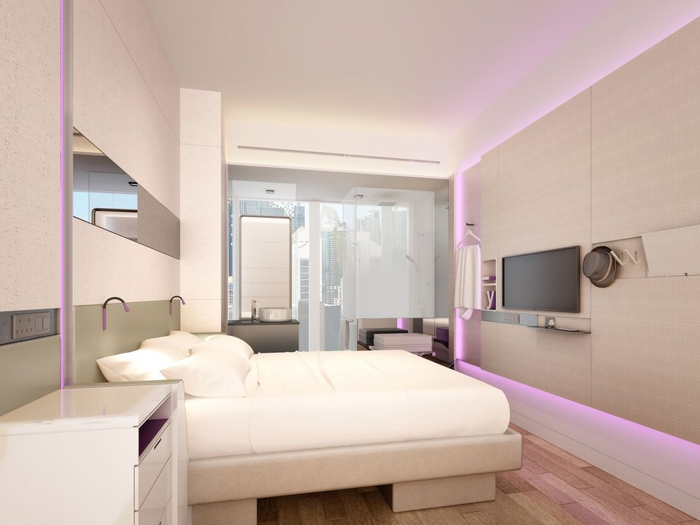 Yotel - Affordable chic smart hotel with pod-like rooms