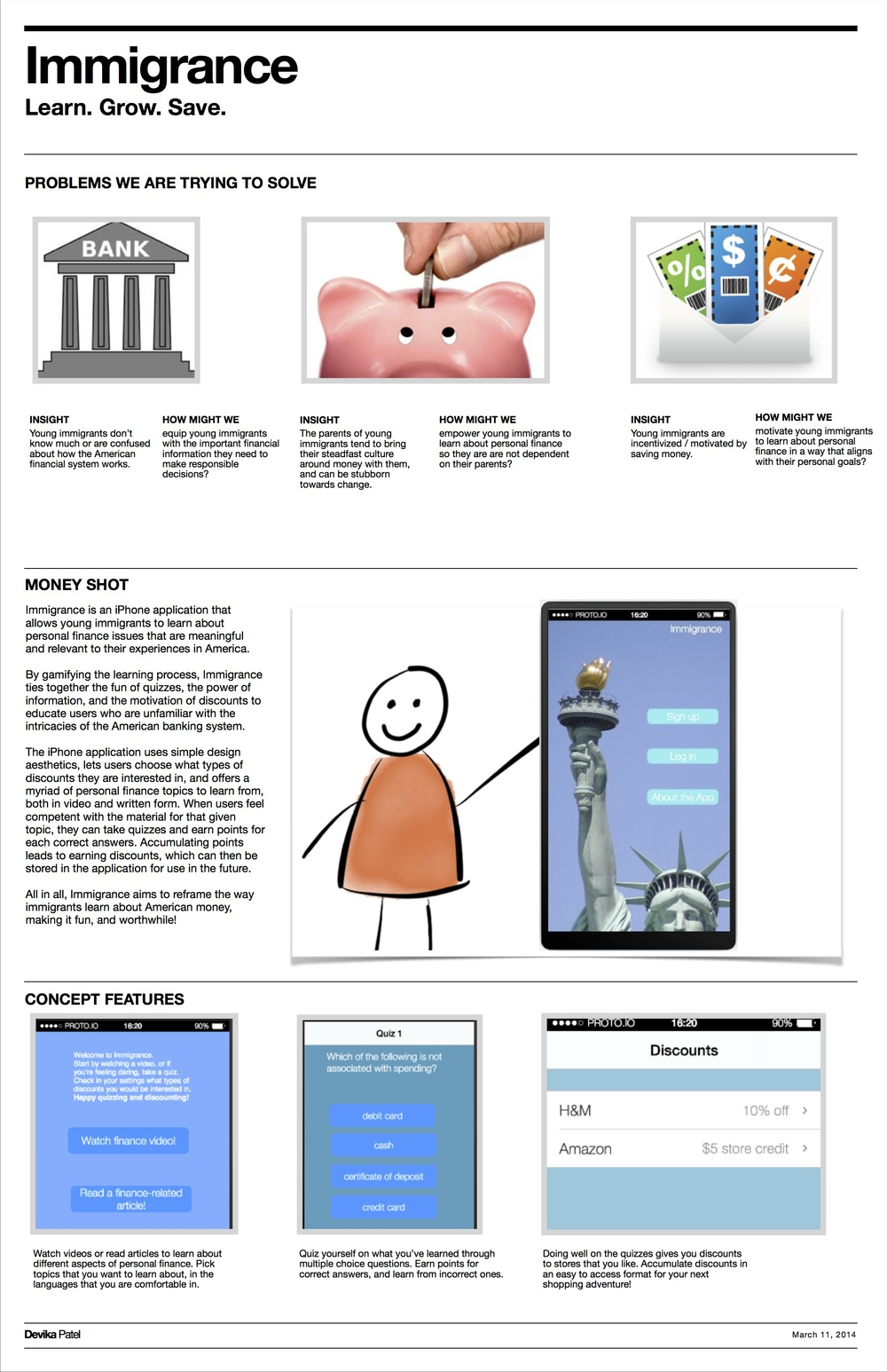 Immigrance Poster -- Compiling Insights, Product Description and Key Features