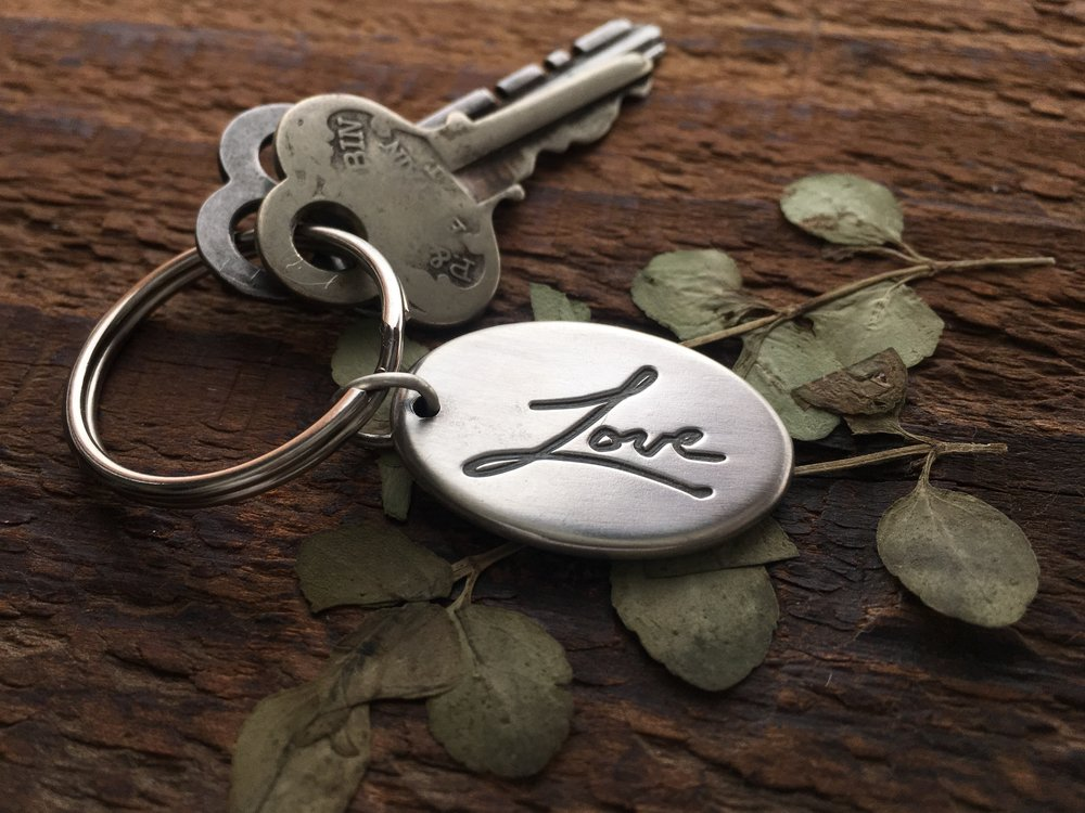 Gifts for Men, Handwriting Key Chain