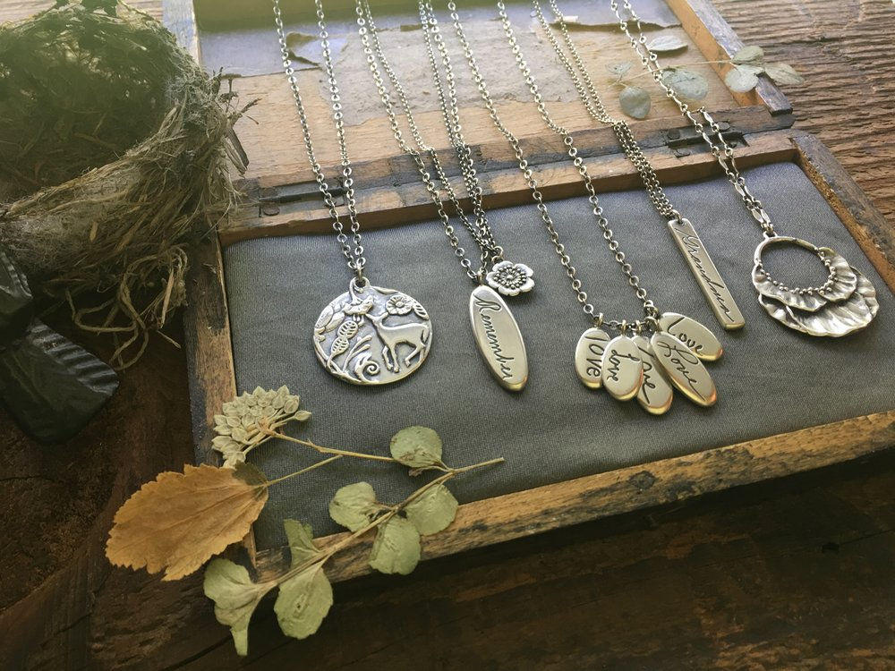 handwriting jewelry and nature inspired jewelry