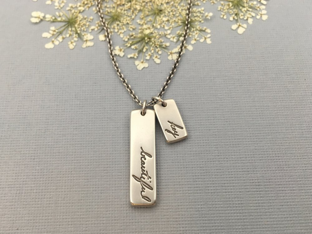 Handwriting Necklace, Love Notes