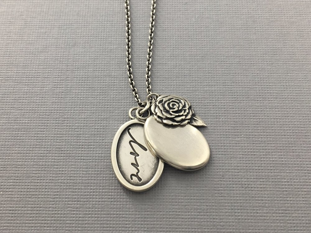 Handwriting Locket with Camellia 1.jpeg