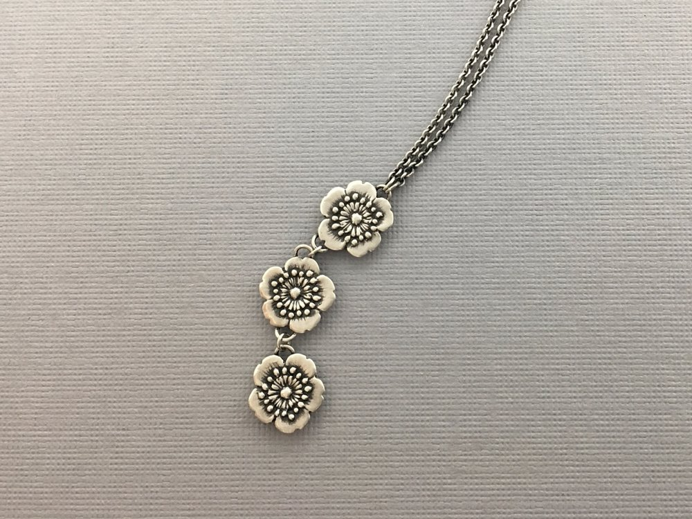 Three Little Flowers Drop Necklace 3.jpeg