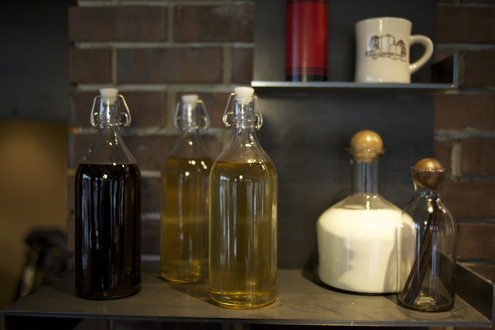 Our house-made syrups