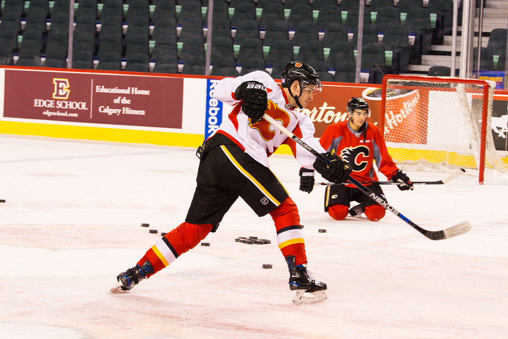 NOVEMBER - The Calgary Flames continue to let me get better at my craft. Now in my 4th season with the team.