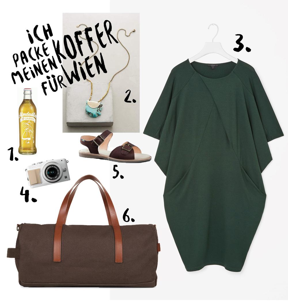Ich packe meinen Koffer für Wien! Collage auf herzundblut.com