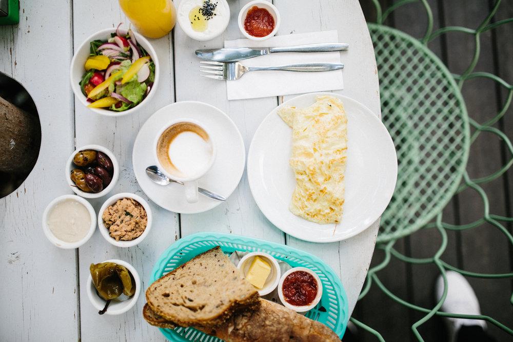 Frühstück in Tel Aviv