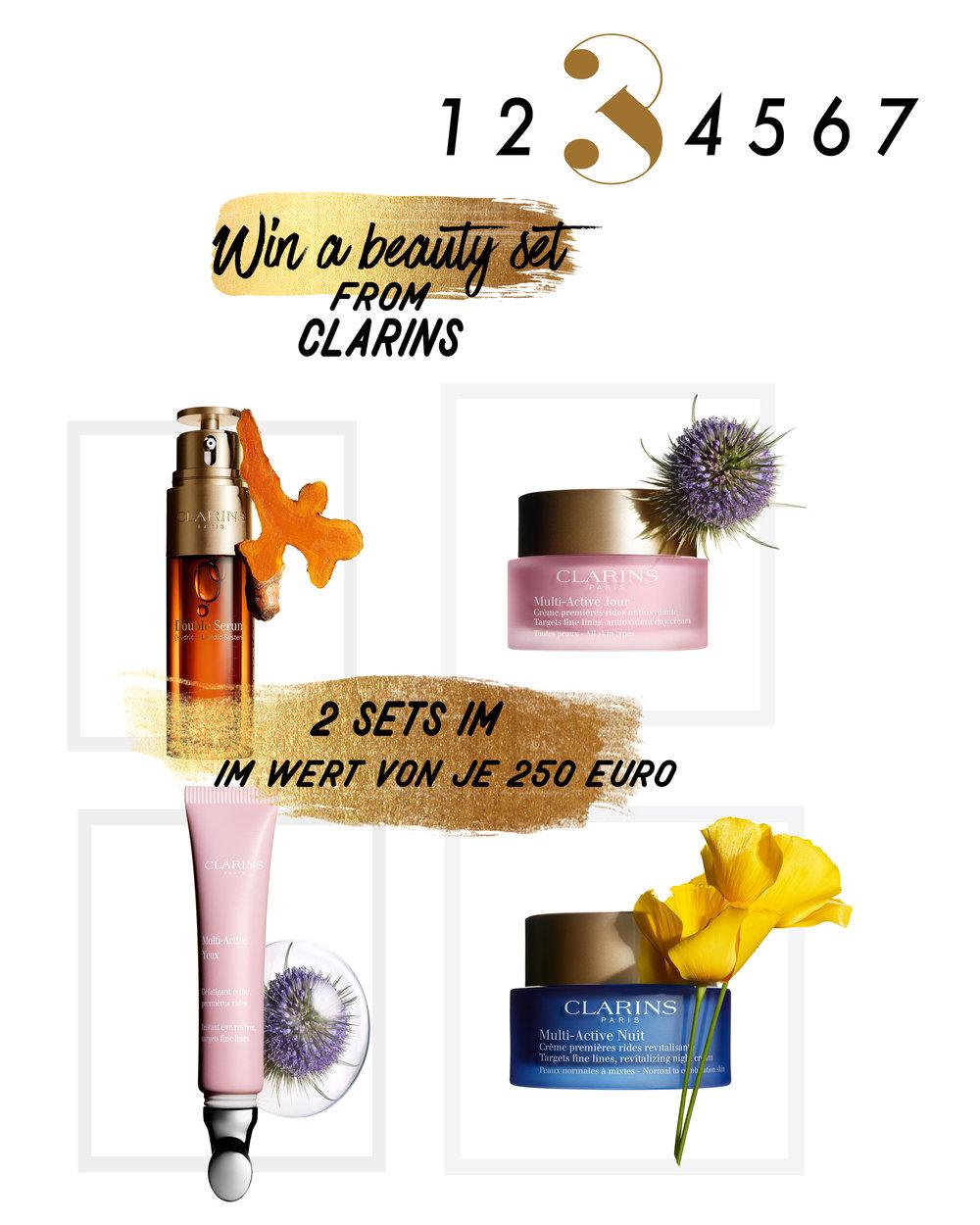 Türchen 3- Gewinne ein beauty set von Clarins