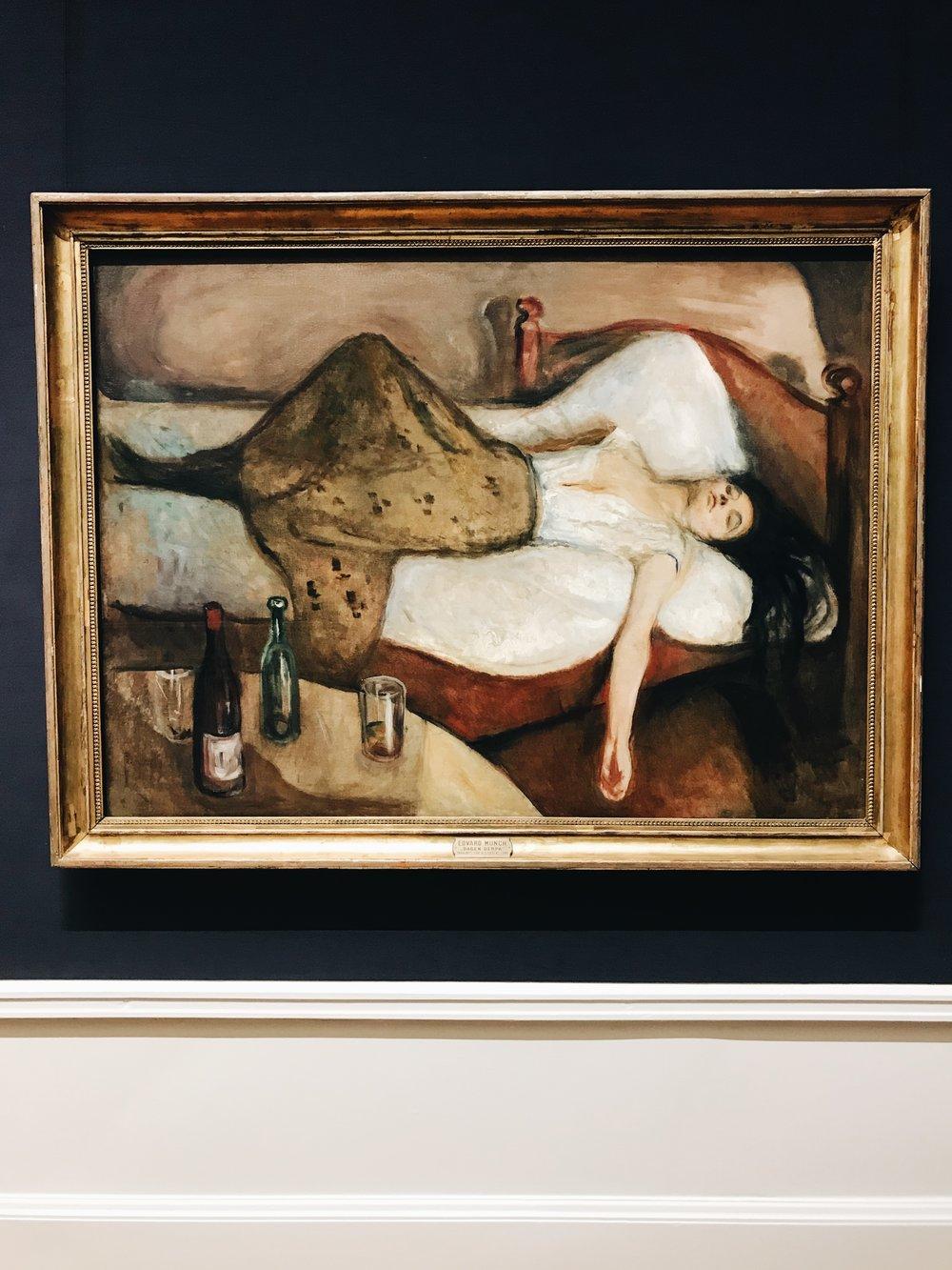 """""""The Day after"""" von Edvard Munch in der Nationalgalerie ist neben dem Klassiker """"The Scream"""" ein Highlight und passt ganz gut zur Julebord-Season."""