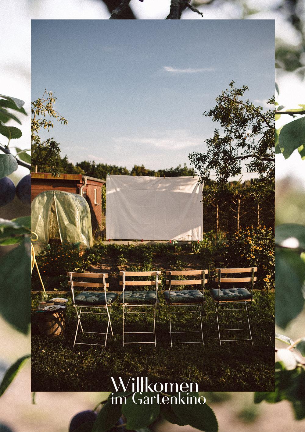 Willkommen im Gartenkino