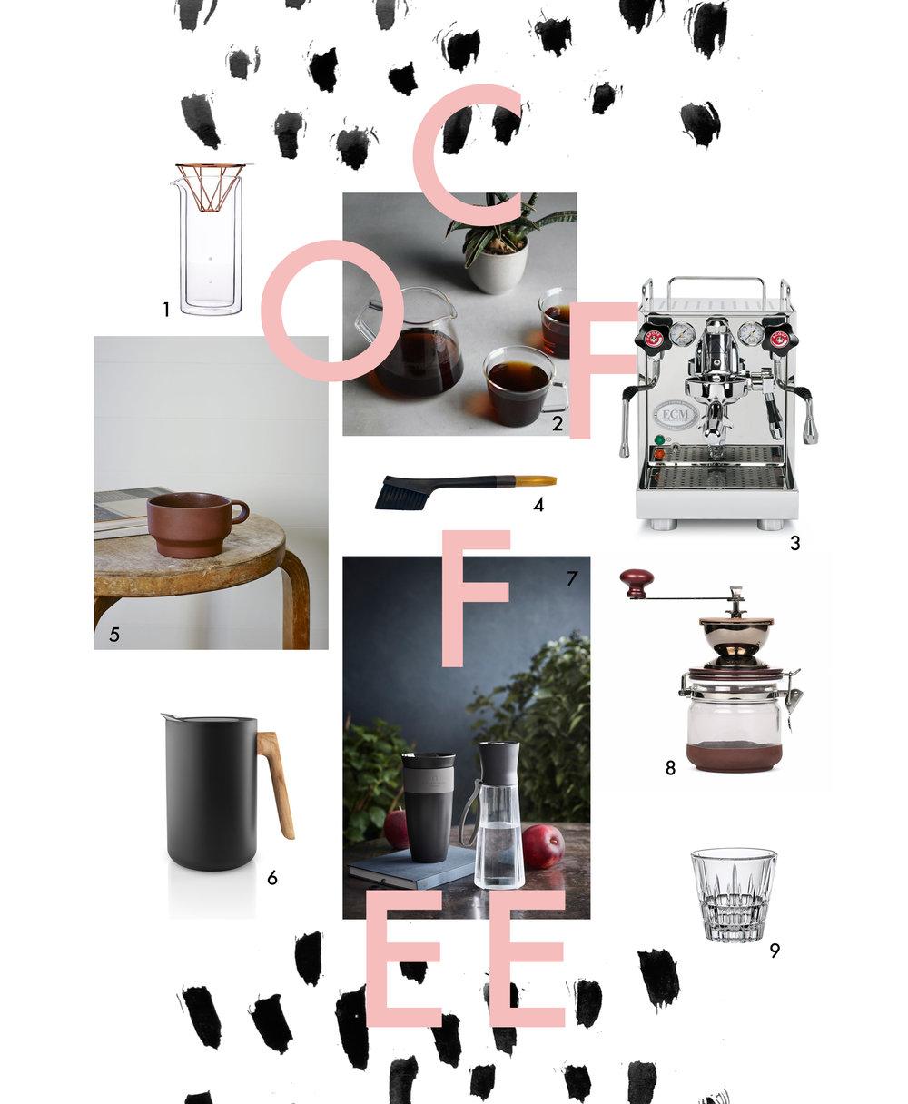 Die schönsten Kaffeeuntensilien