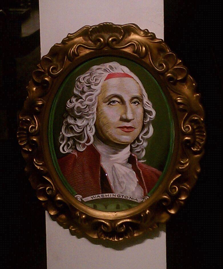 Washingtonia. Saw this in a gallery window on polk.