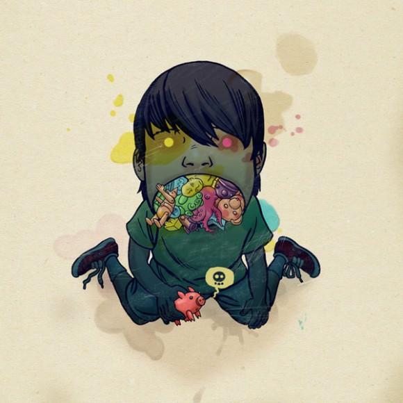i didn't draw this, but i think it kinda looks like me.    by mateusz kolek.