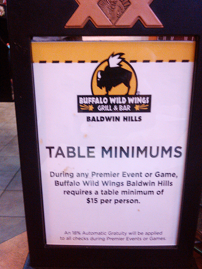 The Crenshaw Buffalo Wild Wings Black Tax justification.