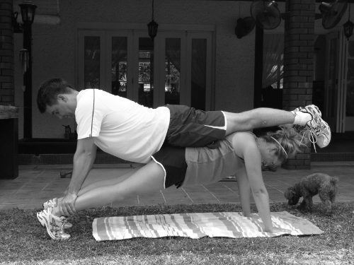 THE COUPLE THAT PLANKS TOGETHER, STAYS TOGETHER! Two ooberfit clients, who share 1-1 training sessions, show how much they have improved their upper body strength after just seven sessions!