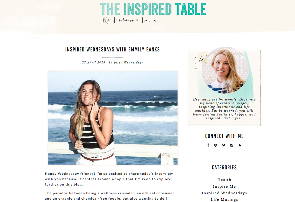 THE INSPIRED TABLE INTERVIEW