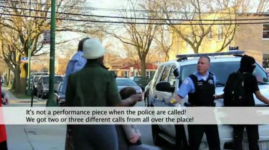 Documentation of performance by Zebadiah Arrington, 2012