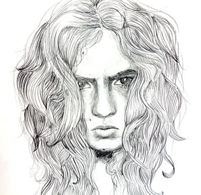 Self-portrait by S. Fahim