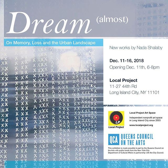 "Please join me for my upcoming exhibition @local_project ""Dream (almost)"" from Dec. 11-16th, on the city in our memory and how we project desire and loss onto the urban landscape #city #memory #cairo #queens"
