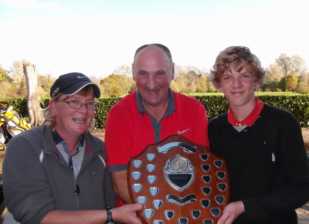 Kate Potter and Ben Moyes are the winners of the Greensomes shield with a magnificent 43 points. Mark Turnbull and Sally Watson came in second with 39 points and Brian Falcus and Carol Brown came in third with 38 points