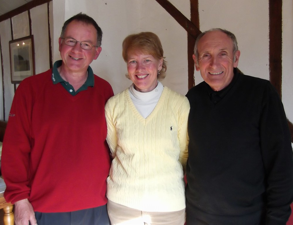 Brian Falcus, Carol Brown and Jeff Moore (Captain, Ladies captain and senior captain)