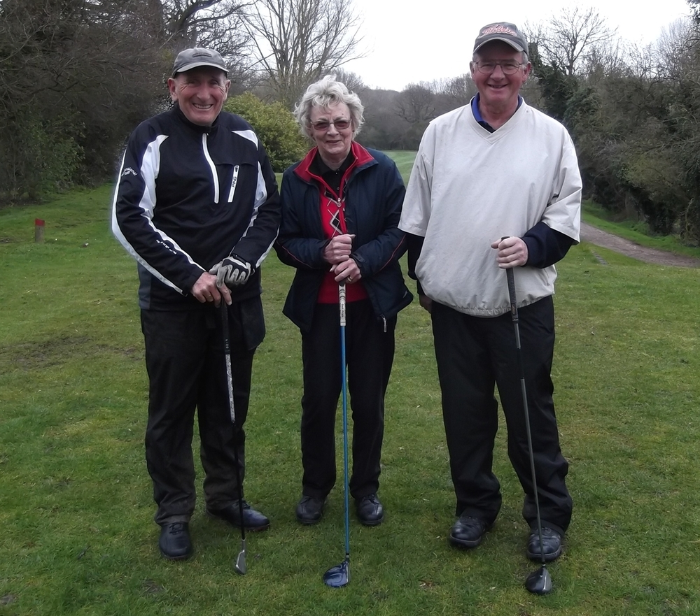 Jeff Moore - senior captain, Sally Clarke - Ladies captain, Brian Falcus - mens captain