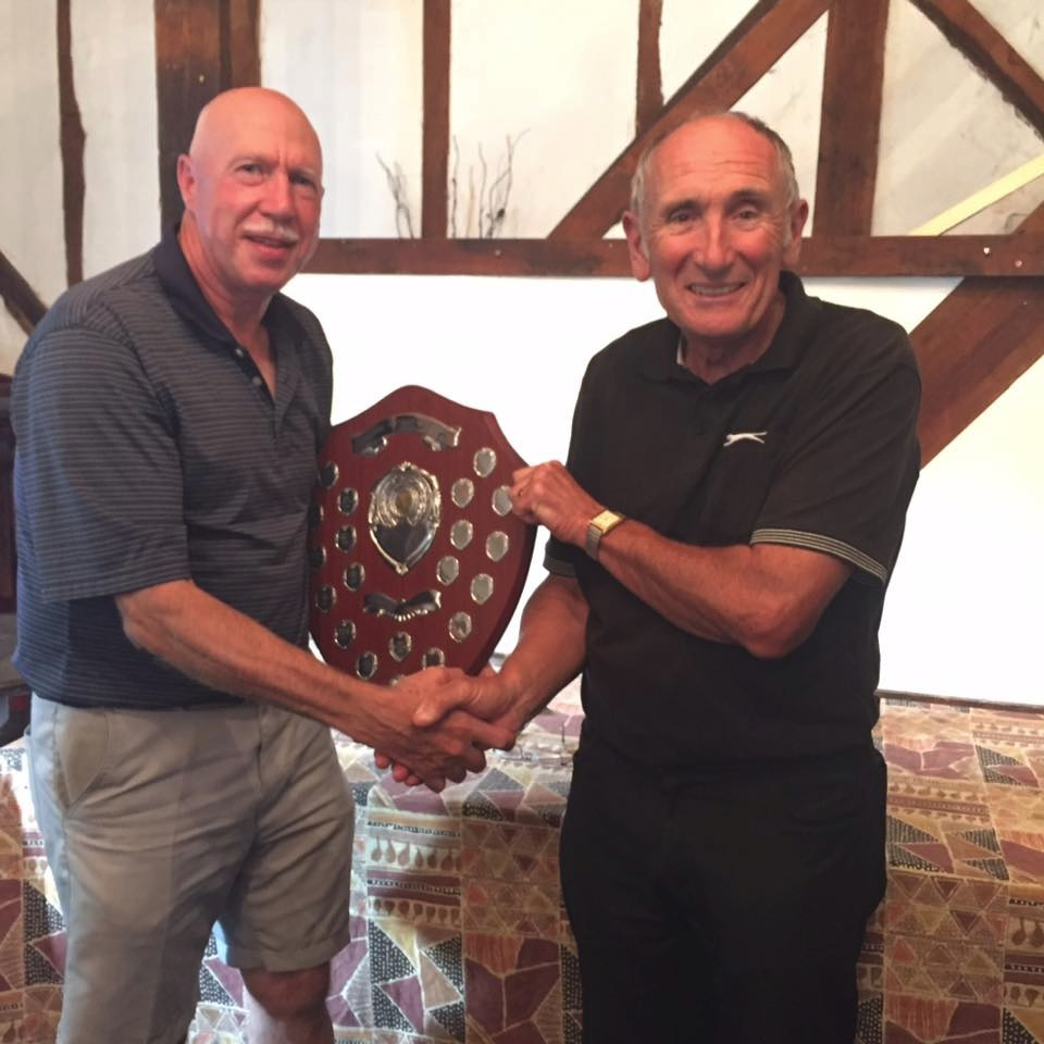 Ray Rudland Receiving the Jonh Watson Shield from Jeff Moore
