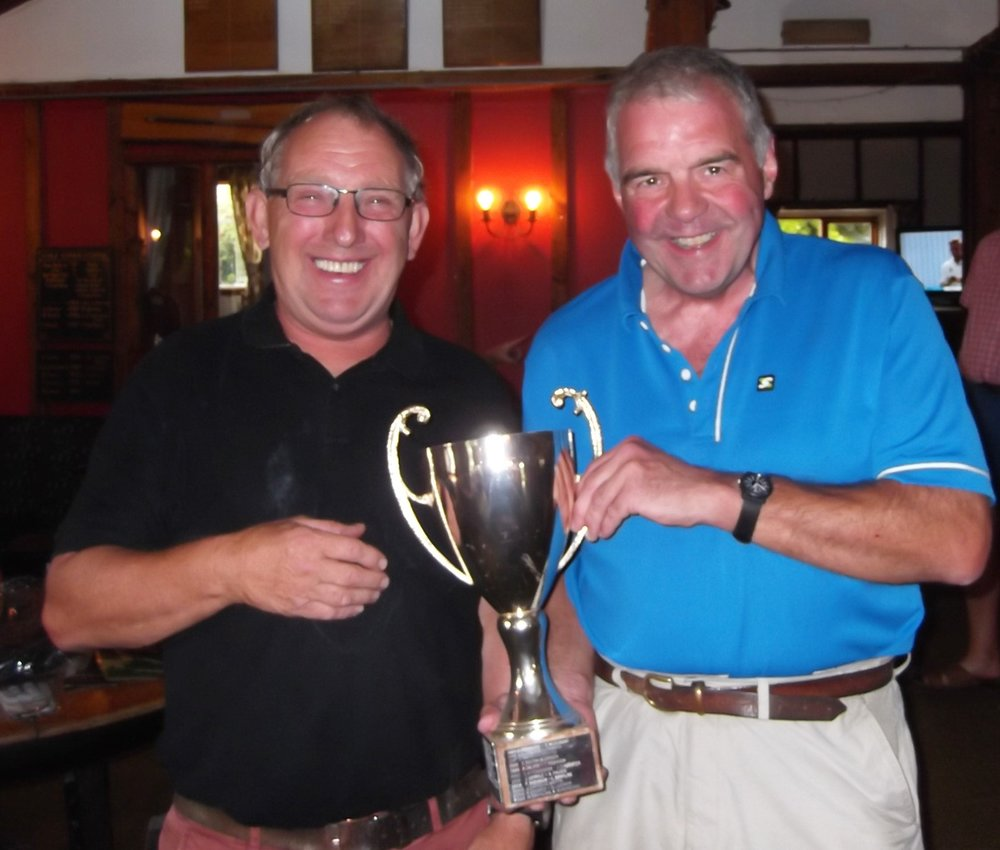 Terry Southwell and Charles Simpson, winners of the Watt cup with 36 points. Last years winners, Brian Falcus and Colin Ellenerwere second with 32 points. For the full result see masterscoreboard