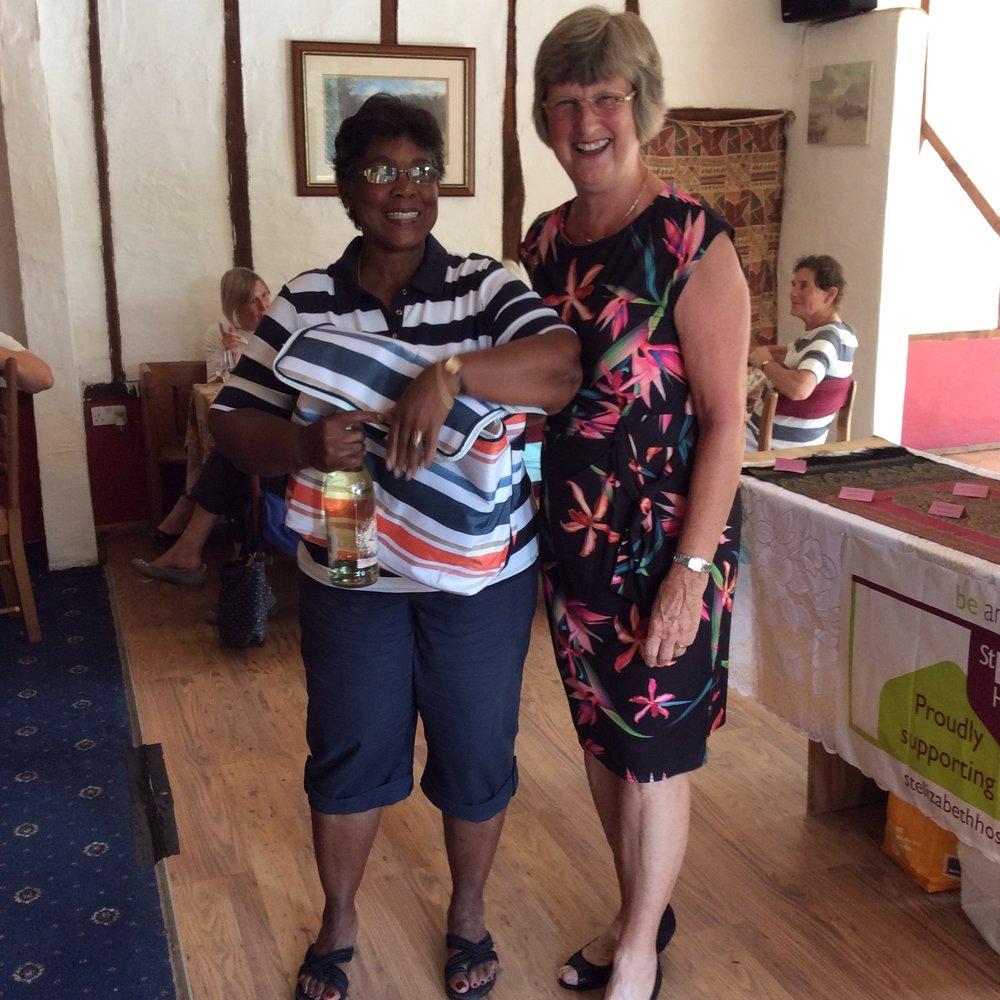 Winning visitor Irma Suttle from Woodbridge.