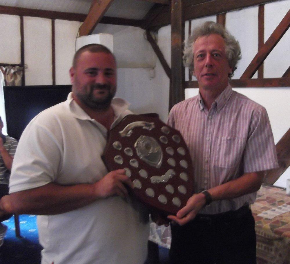 Curtis Lockhart winner of the John Watson shield with a net score of 140.