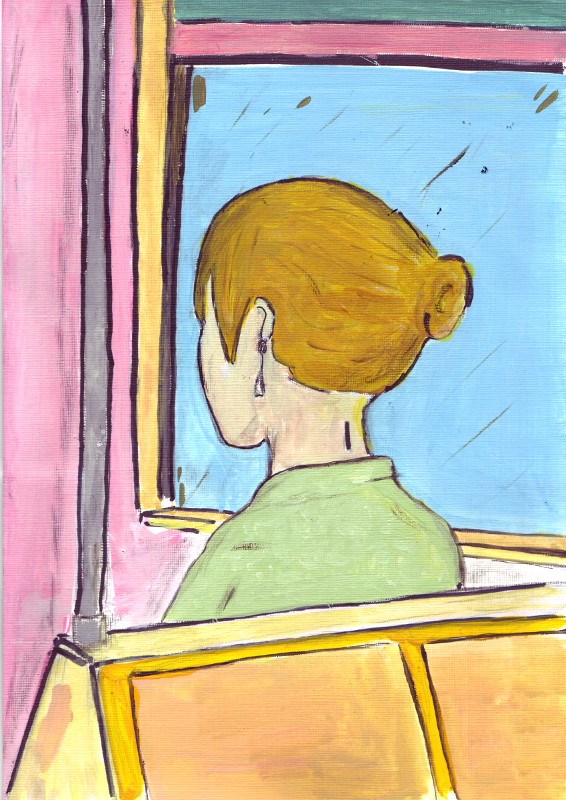 Girl On Bus