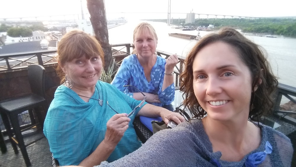 My mom (left) and Aunt Debbie (middle) joined me on this trip full of historic walking tours, fun dinner spots, and lots of girl time.
